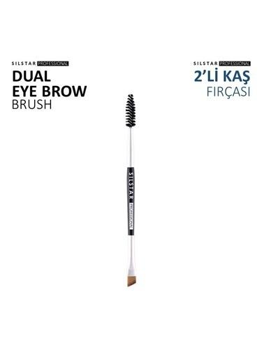 Silstar Dual Eyebrow Brush - 2'Li Açılı Kaş Fırçası Renksiz
